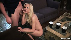 Hot blonde and brunette amateurs mean business when it comes to meat