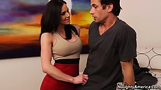 Hot busty brunette Milf Kendra Lust lusts for his cock and gets fingered