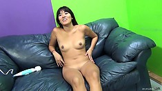 Angelica Chung gets pounded raw on a couch and takes it deep