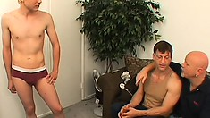 Lusty loveboys Tory and Steve pick up a hottie Nathan and have a steamy threesome