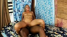 Cheating bitch wife invites over a black dick for her to play with