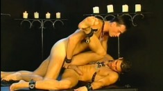 Naughty slave takes a deep dicking up his sphincter and loves it