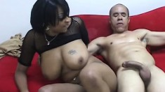 Voluptuous chocolate babe Carmen Hayes gets banged hard by Guy Dasilva