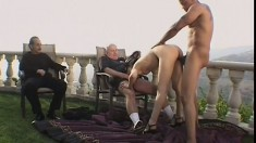 Victoria Sin is fucked by dirty males while her husband watches