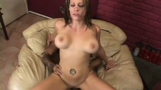 Stacked milf with big ass works hard on that voracious penis