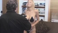 Professional big titted actresses bare all and have fun with their men