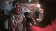 Tight-bodied naked girls going off on looking at each other's tits