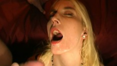 Silke puts her oral skills into action and swallows heavy loads of cum