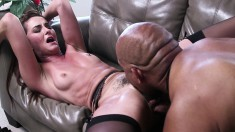 Sultry brunette has Shane Diesel giving her the intense fuck she needs