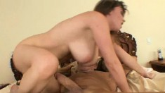 Stacked cougar Sara Stone fucks a long prick like only she knows how