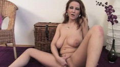 Stacked milf in high heels Brenda loves to masturbate when she's alone