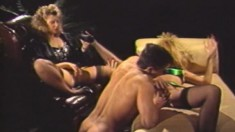 Lynn LeMay has a great time in an intense and passionate threesome