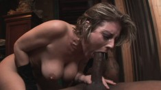 Busty blonde milf Velicity Von gets pounded in the ass by a black stud