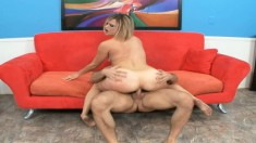 Jasmine Jolie can't get enough of bouncing on her man's hard rod