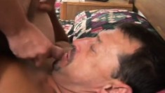 Two horny amateur friends sucking and fucking hard all over the bed