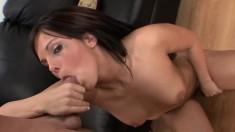 McKenzie Pierce shows off her wonderful ass and deepthroats a big pole