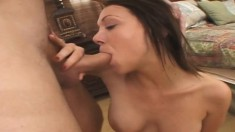 Busty Samantha Sin gets horny and starts riding this thick piston
