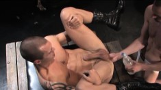 Mesmerizing stud gets a thrill out of having his lover fisting his ass