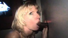 Attractive Blonde Holly Making The Most Of Her Time At The Gloryhole