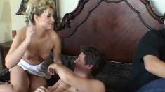 Attractive blonde housewife is in need of a thick rod banging her ass