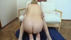 Mature blonde granny doggystyle fucked