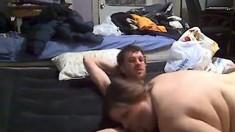 Webcam Bbw Babe Sucking Cock And Riding