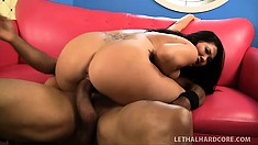 Fabulous porn-legend London Keyes teases sweet cock with big nuts