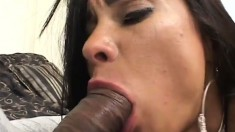 Desirable milf exposes her body and gets pounded rough in both holes