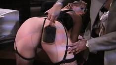 Beautiful whore Dru Berrymore enjoys some rough lesbian loving