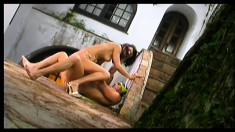 Good Looking Italian Couple Make Passionate Love In An Exciting Scene