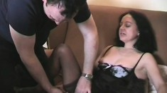 Horny mature lady rides a young stud's prick until she's fully pleased