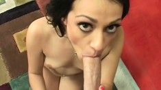 Rachel just can't keep all that juice inside her when she cums