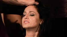 She is their fuck toy slave and they nail her and cum all over her face