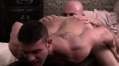 Gorgeous young stud has a horny therapist plowing his fiery anal hole