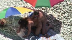Beautiful brunette caught fucking on hidden cam massage
