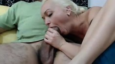 Big Tit Blonde Milf Awed By Big Meaty Cock