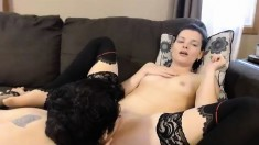 Girls lick each others sexy feet in stockings