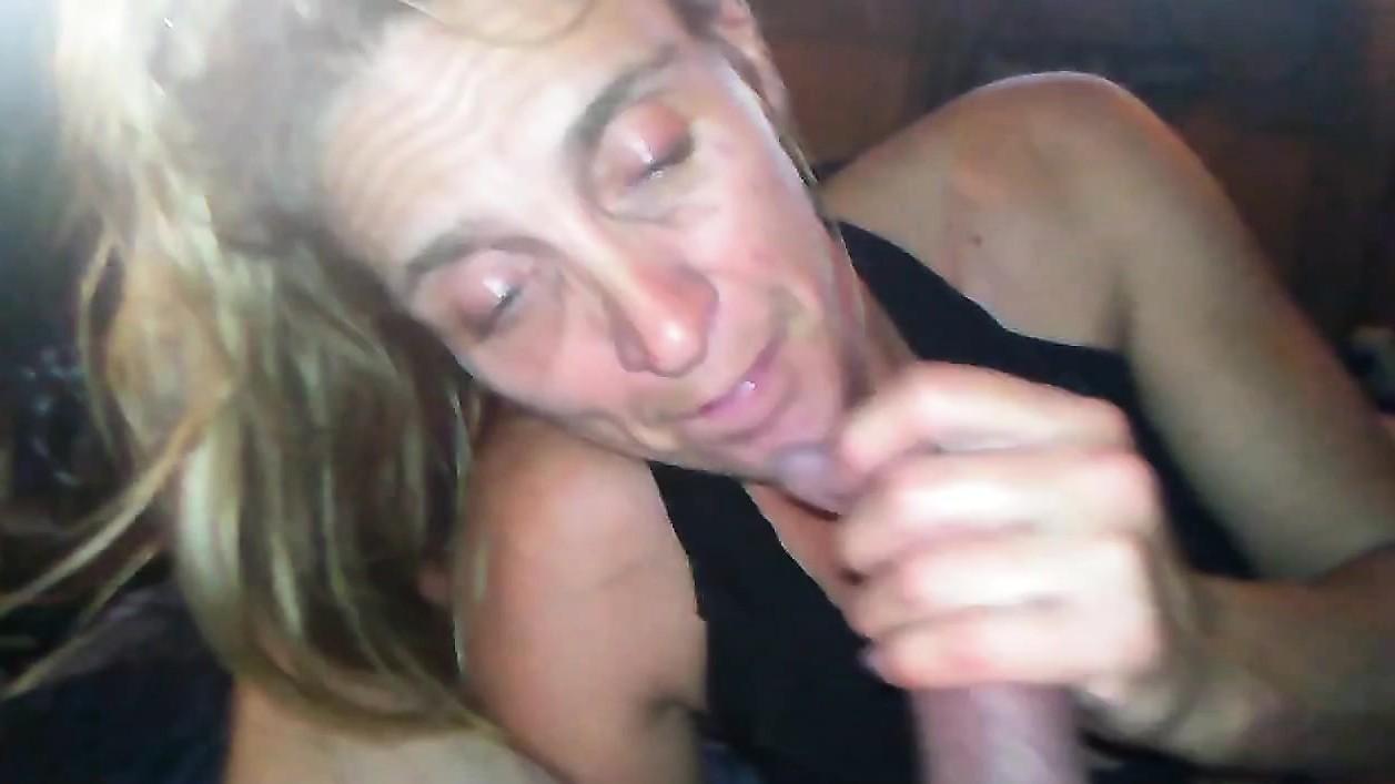 Big tit wife blowjob
