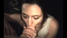 Brunette Crack Whore Giving Sloppy POV Blowjob