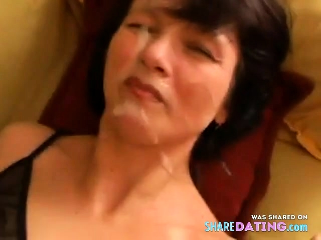 Russian mature sucks cock