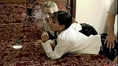 fucking 2 girls with cigarette