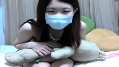 A Japanese Teen On Webcam