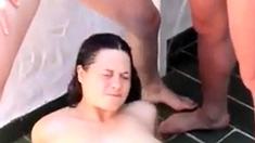 Amateur - FMF Outdoor Pissing Threesome